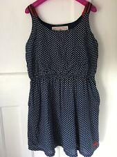 Superdry Onwa Spot Sundress Size XL 16 Spotted Pockets Cotton Mix Summer Cool