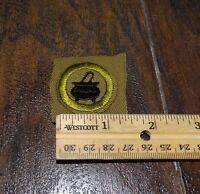 15976/ Vintage Boy Scouts of America Merit Badge ~ COOKING