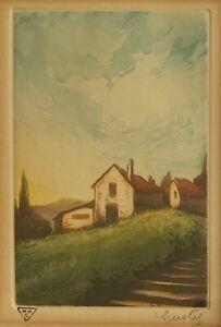 Gusty Olsson - Original signed aquatint etching