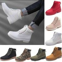 Women's Classical Martin Boots Outdoor Waterproof Working Shoes Casual Lace Up