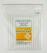 Original Zweigart Waste Canvas 14 Count 3 Pieces Cross Stitch Fabric 6'' x 6''