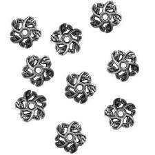 20 PERLES INTERCALAIRES Coupelles Calottes Caps, Motif Fleur 11x3mm - Bijou