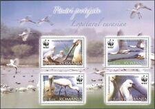 Romania 2006 WWF/spatola/in pericolo Birds/NATURA/conservazione 4v M/S (n16425)