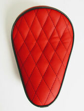 Custom Solo Seat Red & Black Diamond to fit Harley Bobber Chopper Yamaha