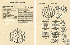 Original RUBIKS CUBE  US PATENT Art Print READY TO FRAME!!!! Erno puzzle Rubik