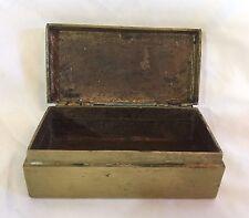 Antique Brass Jewelry Box