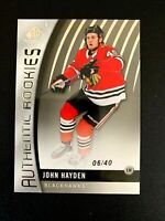 2017-18 SP Game Used #117 John Hayden/40 TRUE RC