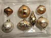 7 L Brass Key Lumiere Gold Mercury Glass Christmas Ornaments Sworovski Crystals