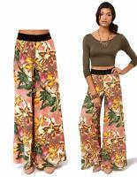 BB DAKOTA Chase Blush Floral Print Wide Leg Pants XS  NEW WITH TAGS