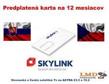 SKYLINK KARTA M7 HD STANDARD 12 MESIACOV ZAPLATENE SVK-CZK SAT TV KANALY