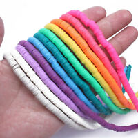 Wholesale NEW 3/4/5/6mm Flat Disc Handmade Polymer Clay Bead Spacer Jewelry DIY