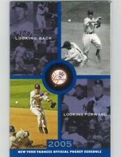 2005 Yankees pocket schedule  Rizzuto/Jeter  cover