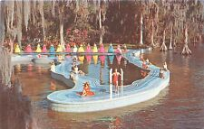 Cypress Gardens Fl Esther Williams Pool Shape Of Fl For Mgm Moviepostcard 1960s