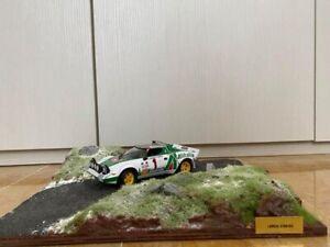 Lancia stratos Italeri Con Diorama Rally Monte Carlo Scala 1:24