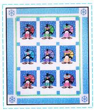 Penguin Paradise - fun applique & pieced quilt PATTERN - Amy Bradley