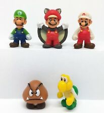 Super Mario Character One Coin Figure, Set Of 5 ( Approx 2.5cm )