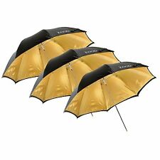 "Kood 33""/84cm Gold Reflective Studio Umbrella X3"