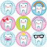 144 Happy Teeth 30mm Children's Reward Stickers for Teachers, Dentist, Parents
