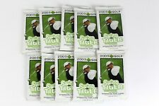 LOT OF 10 FACTORY SEALED PACKS of 2003 Upper Deck Golf PGA WGPA w Tiger Woods