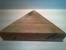 * WOODEN CORNER SHELF - Solid Chunky Wood - ANTIQUE PINE - LARGE 40CM *