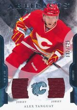 2011/12 Artifacts #64 Alex Tanguay Double Jersey Base Parallel Insert (032/125)