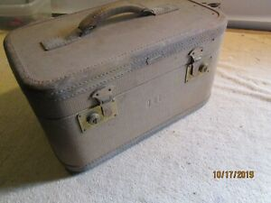 Vtg 50s HARTMANN Travel Luggage Suitcase Make Up Train Case Trunk Decor