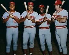 THE BIG RED MACHINE 8X10 PHOTO CINCINNATI REDS BASEBALL MLB PICTURE ROSE BENCH