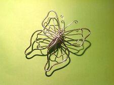 """Magnet """"Schmetterling""""(6 x 7 cm)aus Edelstahl von Hand gefertigt BUTTERFLY"""