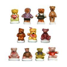 Fèves de collection en porcelaine _ LES OURS EN PELUCHE _ Série complète 11 Feve