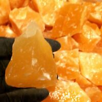 1/2 lb LOT Calcite Orange Natural Crystal Rough Gemstone Raw Stone Bulk Healing