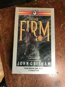 """John Grisham """"The Firm"""" Audiobook on 2 Cassette Tapes-180 Minutes-NEW"""