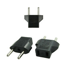 3X PACK American US to European EU Power Plug Adapter Converter Type C Polarized