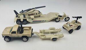 Vintage 1992 GI Joe Tonka Vehicles Helicopter Truck Transport Jeep Military