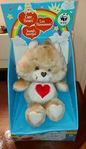 NEW 1983 tonka/american greetings corp Care Bears Plush Tenderheart bear