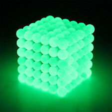 DIY 216 5mm Glow In Dark Metal Magnetic Neodymium Cube Ball Fluorescence 1704