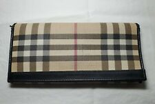 Classic Burberry Plaid Fold Clutch Card Holder used