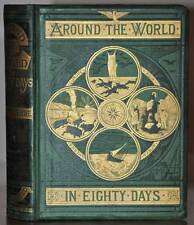 *DATED 1873* AROUND THE WORLD IN EIGHTY DAYS~JULES VERNE~1ST EDITION~SAMSON LOW