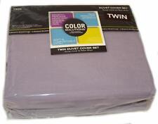 COLOR SOLUTIONS Soft Purple Solid 2P TWIN DUVET SET COTTON RICH BLEACH RESISTANT