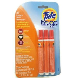 Tide To Go Instant Stain Remover Pen - 3 Pack.