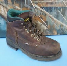 Mens CAROLINA R22154 Brown Leather Ankle Work Boots SIZE 6.5 EE