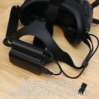 New DJI FPV Goggles V2 2021 Model Custom Clip to Attach Battery to Head Strap