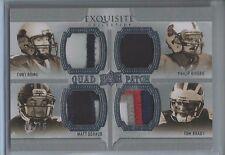 2010 Exquisite Collection Quad 4 Clr Patch Tom Brady Romo Rivers Schaub #d 01/15