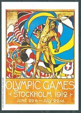 OLYMPIC GAMES === STOCKHOLM   1912-------- MARS POSTCARD