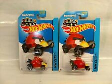Hot Wheels - Lot of 2 - Angry Birds Red - HW City 2014 Tooned #82/250