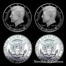 2018 P+D+S+S Kennedy Half Dollar Silver Clad Mint Proof Set ~ PD from Mint Rolls