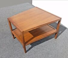 Vintage Danish Modern Style Two Tier Wood End Table Coffee Lane