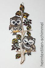 Plauen Lace ® Window Picture Owl Pair Fensterdeko Owl Forest Window Decoration