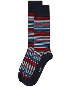 AlfaTech by Alfani Men's Striped Socks Navy Multicolor