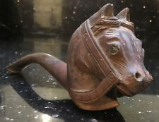 Old Vintage Carved Horse Pony Head Pipe Bruyere Choisie FBC Saint Claude France