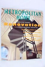 Vintage Metropolitan Home Magazine October 1989 Special Issue Renovation